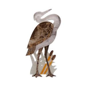 Avian Adore Heron Brooch