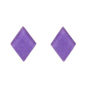 Essentials Diamond Purple Glitter Studs